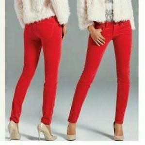 CABI SKINNY Corduroy Jeans, Cherry Red, Size 4